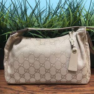 Authentic Gucci Tan Logos Small Bag dcb1051